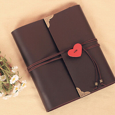 30 pages Photo Album Storage Leather Scrapbook Travel Holiday Vintage Gift DIY
