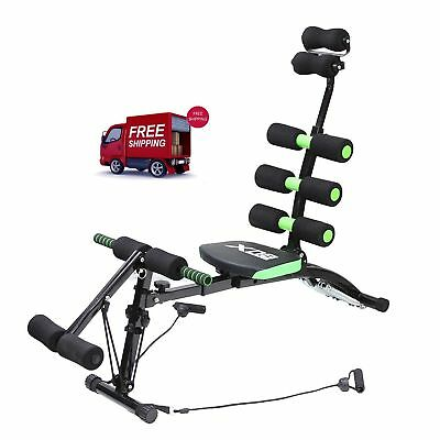 Home Workout Equipment Gym Exercise Abs Chair 6 Way Trainer Crunches Machine New  sc 1 st  PicClick UK & HOME WORKOUT EQUIPMENT Gym Exercise Abs Chair Core Trainer Crunches ...