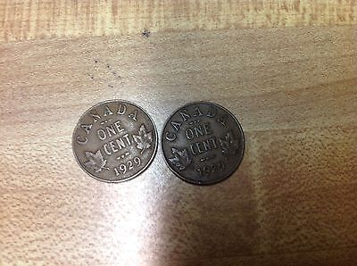 1929 Canada Cent, Canadian Penny, 1 Cent