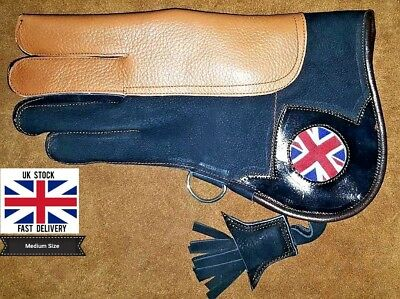 Nubuck Leather Double layer Falconry Glove Union Jack 12Inch Medium size