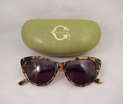C. Wonder Cat Eye Sunglasses in Tortoise Shell with Hard Clamshell Case
