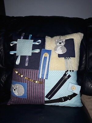 Dementia Cat Cushion, Activity Cushions, Fiddle Cushions, Alzheimers, Dementia,