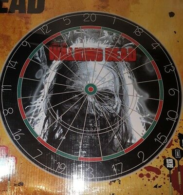 The Walking Dead Zombie Dartboard Set ~ Tournament Size ~ FREE PRIORITY SHIPPING