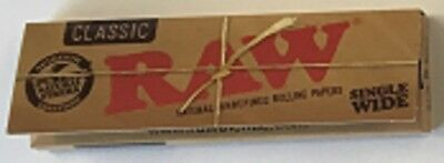 New - Pack Of 50  Classic Raw - (Single Wide) Rolling Papers
