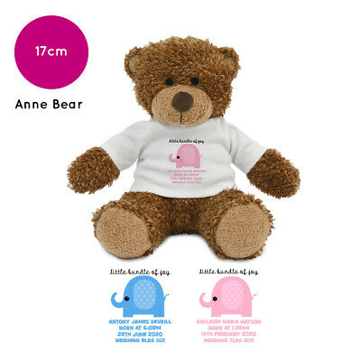 Personalised Name New Baby Boy Girl Anne Teddy Bear Gifts Gift Ideas Presents