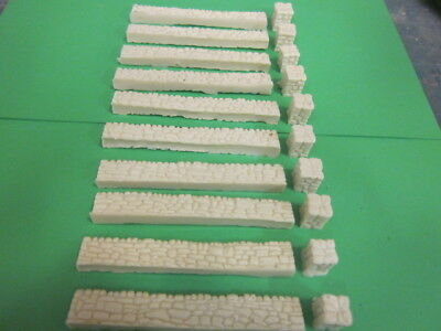 Resin Cast stone walling for 00 gauge modelling 10 per pack each piece 98mm long