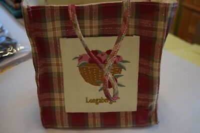 Longaberger Small Orchard Plaid Tote 9""