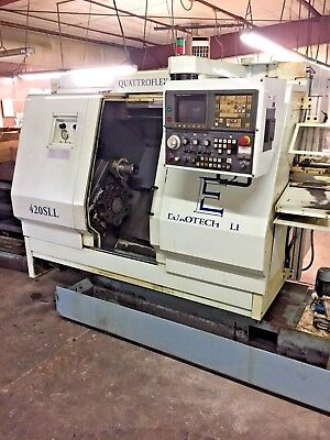 Eurotech 420SLL Multi Axis Turning Center, 1997, 2 turrets with live tooling
