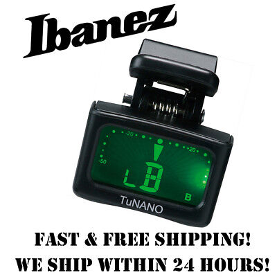 *ibanez Tunano Chromatic Micro Headstock Tuner For Guitar, Bass, Ukulele, Banjo*