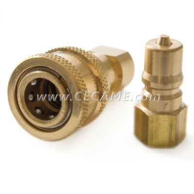 "Quick Connect Disconnect Coupler Valves 1/8"" Carpet Cleaning Wand Truckmount QD"