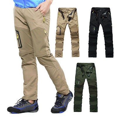 fc7a10bbaad1 Men Quick-drying Pants Outdoor Camping Hiking Breathable Trousers Detachable  New