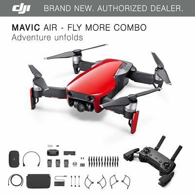 DJI Mavic Air - Flame Red Drone - Fly More COMBO - 4K Camera