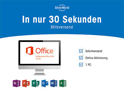 ●ANGEBOT● Microsoft Office 2016 Pro Professional Plus ESD ★Sofortversand★