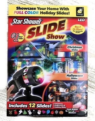 led star shower slide show projector christmas halloween holiday