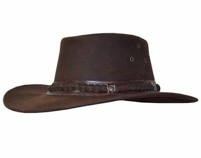 Cowboy Mexican Style Men's Brown Real Western Bush Original Real Leather Hats