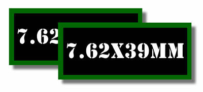 "7.62x39MM Ammo Can Labels for Ammunition Case 3.5"" x 1.50"" stickers decals 2PACK"