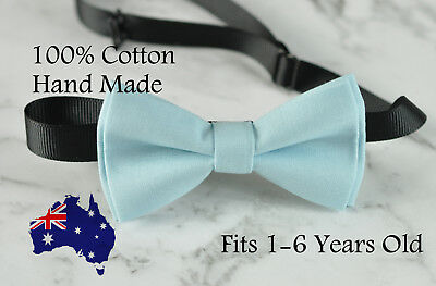 Boy Kids Baby 100% Cotton Baby Blue Bow Tie Bowtie Party Wedding 1-6 Years Old