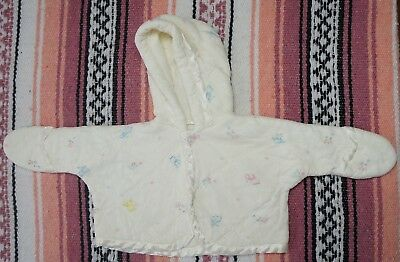 Vintage Hooded Sweater Kitty Kittens Cute Baby Girl 3-6 Months