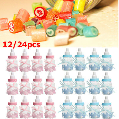 Fillable Bottles for Baby Shower Favors Blue Pink Party Decoration Girl Boy gift