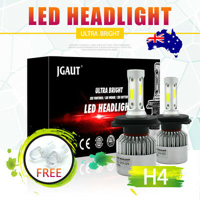 Philips LED LAMP 296w 29600LM H4 9003 HB2 HEADLIGHT KIT Hi/Low BEAM BULBS Globes