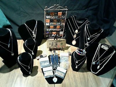 ☆BEAUTIFUL☆45☆ Pc.LOT~GOLD$100 Rep.*+MIXED JEWELRY/GEMSTONE NECKLACES+ MORE!!.