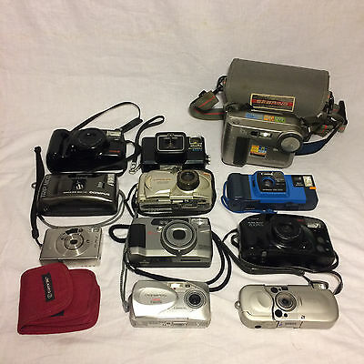 Camera Lot 11 Camera Olympus Canon Sony Minolta (Untested)
