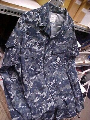 50% NWU Military Uniform USN Navy US Naval Sea Cadet Blouse Medium X-long #u64