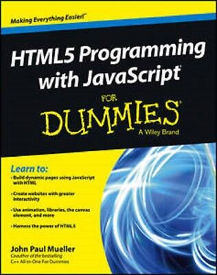 HTML5 Programming with JavaScript For Dummies  Read on PC/Phone/Tablet