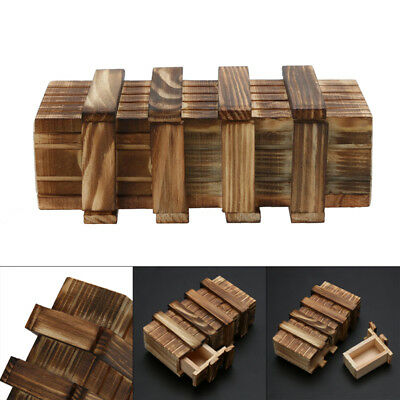 Magic Compartment Wooden Puzzle Box With Secret Drawer Brain Teaser Kid Gift