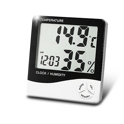 Indoor Room LCD Electronic Meter Digital Thermometer Hygrometer Alarm Clock