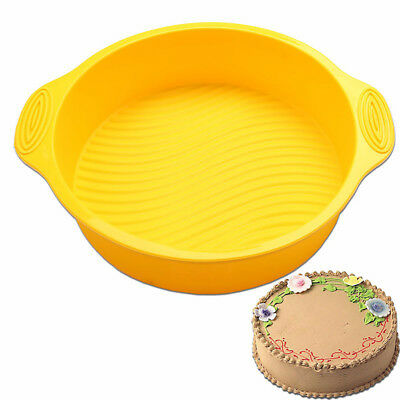 3D Silicone Useful DlY Round Shape Cake Mold Bakeware Maker Tray Baking Tools