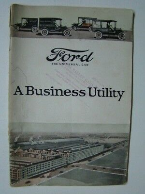 Ford Business Utility Booklet Henry Ford Photograph Trucks Grass Valley CA 1919
