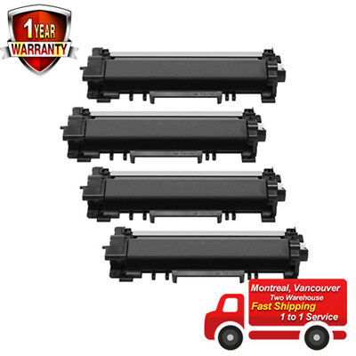 4PK TN760 Black Toner Cartridge HighYield-No Chip For Brother HL-L2350DW L2370DW