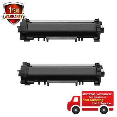 2PK TN760 Black Toner Cartridge -No Chip For Brother MFC-L2710DW L2730DW L2750DW