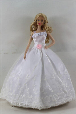 Fashion Handmade Princess Dress Wedding Clothes Gown for Barbie Doll b14