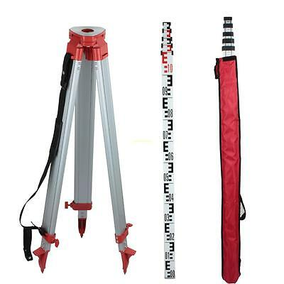 Aluminum 1.65m Tripod and 5m Staff Kit for Rotary Laser Level