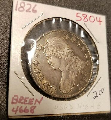 1826 Capped Bust Half Dollar 5804