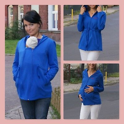 **sale** Multiway 3 In 1 Maternity Nursing Baby Wearing Cover Cotton Blue Hoodie