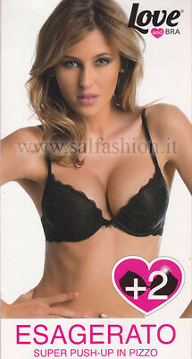 Reggiseno Love and Bra super push-up ESAGERATO in pizzo imbottito