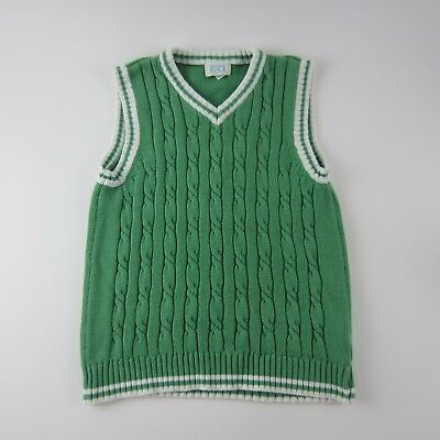 The Children's Place Boys Sweater Vest Size M 7/8 Sleeveless Light Green White