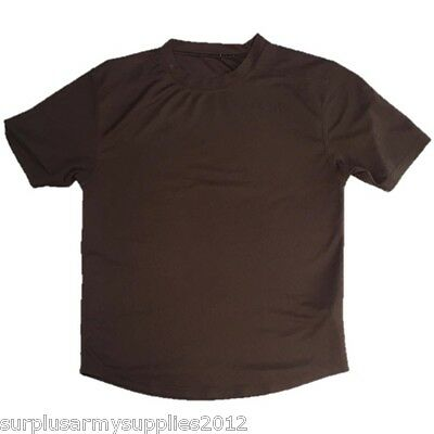 British Army Issued Brown T-Shirt Combat Anti Static Coolmax Top Mtp