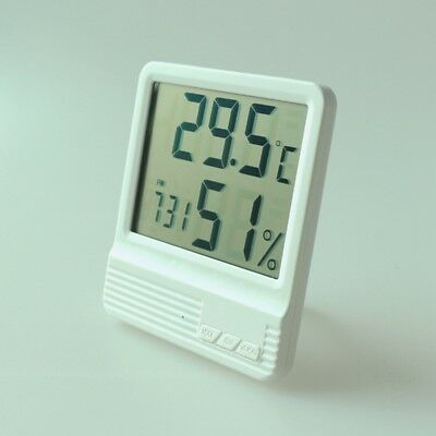 Indoor Thermometer Hygrometer LCD Digital Temperature Humidity Meter Alarm Clock