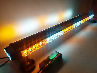 "38"" Amber White 78W LED Traffic Advisor Emergency Warn Tow Truck Strobe Lightbar"