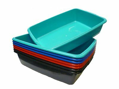 Whitefurze Plastic Large Cat Litter Tray Strong Plastic Litter Box From 4Colours