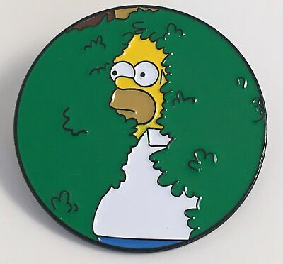 Homer in Bush Simpsons Enamel Pin