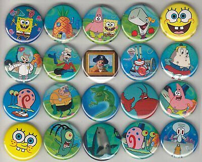 Spongebob Squarepants Buttons/Pinbacks/Badges set of 20 Pins