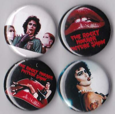Rocky Horror Picture Show Pinback Buttons set of 4 Pins