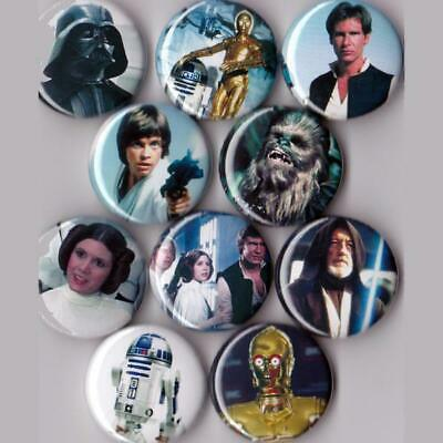 Star Wars Pinback Buttons set of 10 Pins