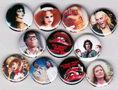 Rocky Horror Picture Show Pinback Buttons set of 11 Pins