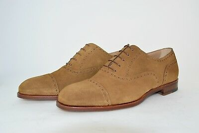 Man-Oxford Captoe-Francesina-Suede Beaver-Camoscio Castoro-Leather Sole